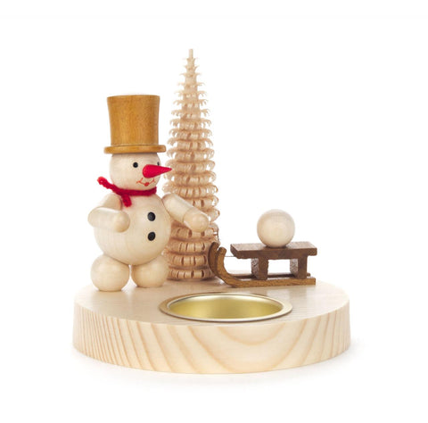 Tealight Holder - Snowman with Sled