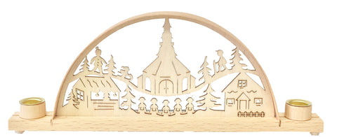 Mini Seiffen Village Scene Candle Arch