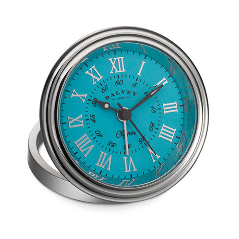 3277 - Clipper Clock with Turquoise Dial