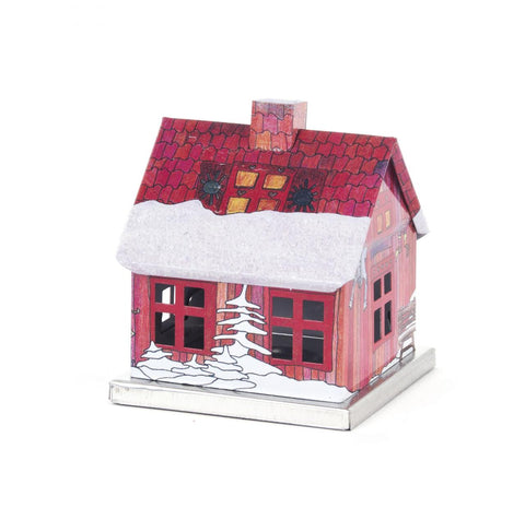 146/202040 - Metal Smoker House w/ Painted Scene