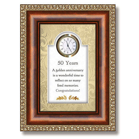 50 Years Table Top Clock