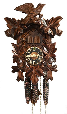 KU1002M - 1 Day Musical 2 Door 5 Leaf Cuckoo Clock