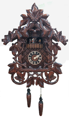 KU6905QM - Quartz Musical 10 Leaf Grapevine Cuckoo Clock