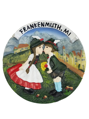 Kissing Couple Plate Magnet