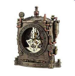 Steampunk Skeletal Table Clock