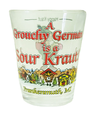 Grouchy German Shot Glass - Clear
