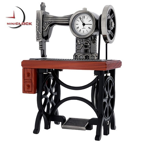 Treadle Sewing Machine Miniature Clock