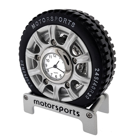 Motorsports Tire Miniature Clock