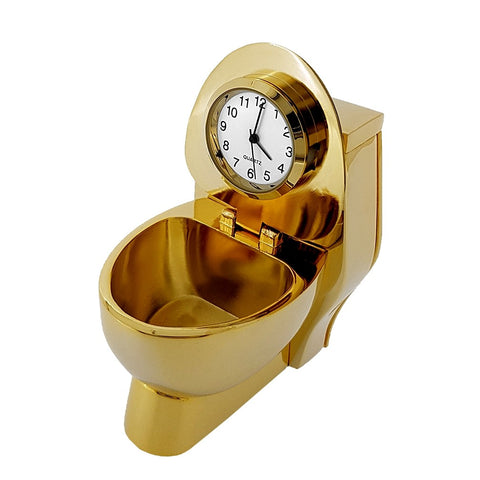 Toiler Miniature Clock Gold