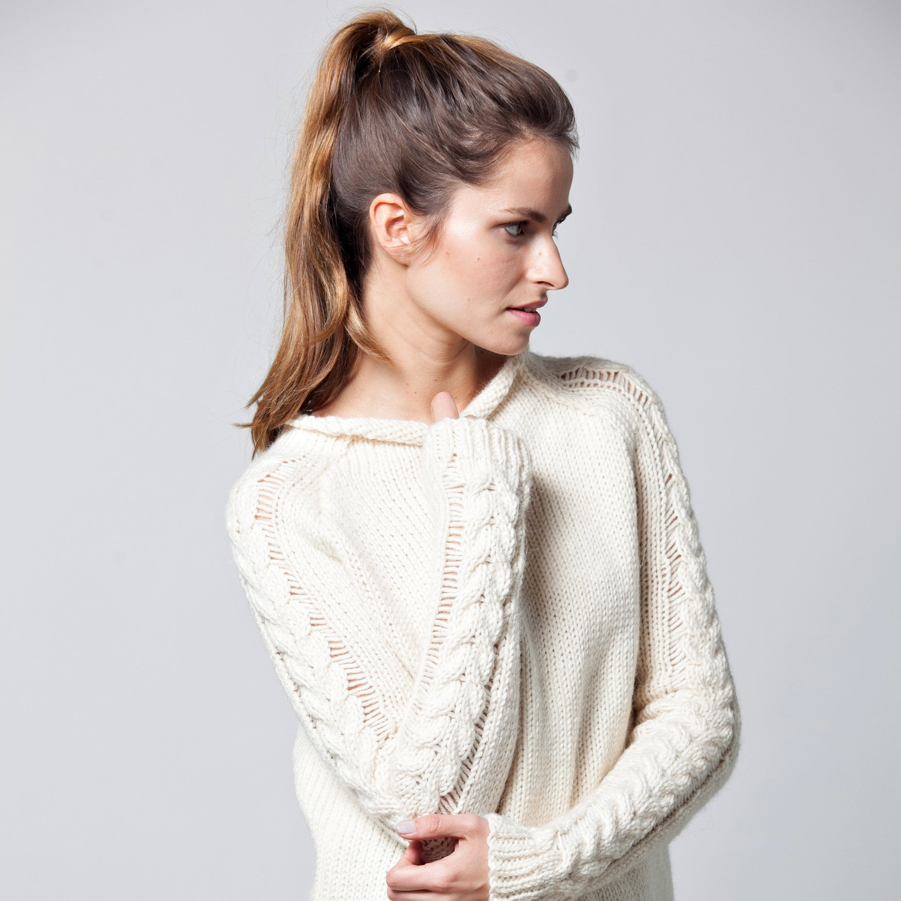 Raglan alpaca sweater - DuendeFashion  - 3
