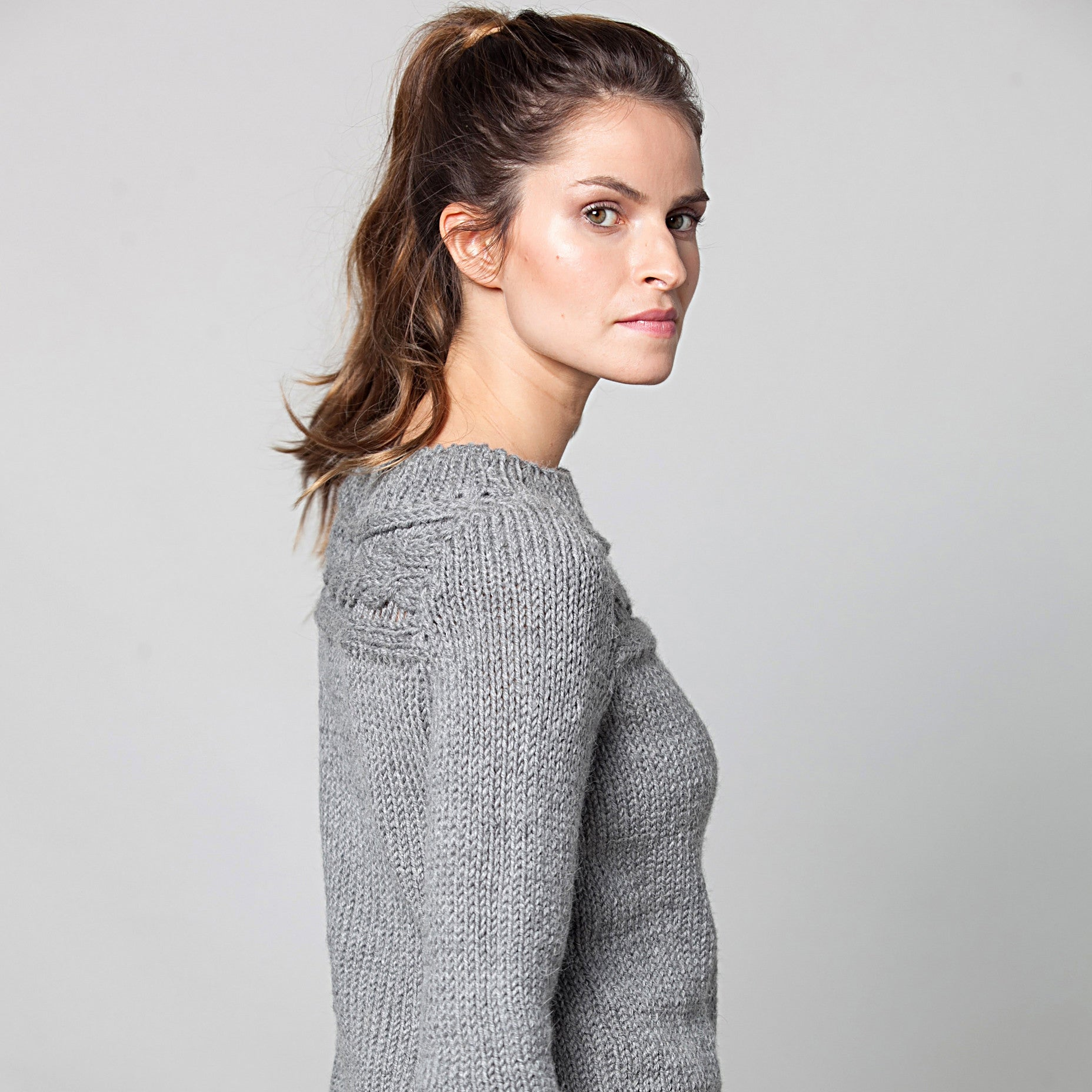 Alpaca tunic sweater - DuendeFashion  - 4