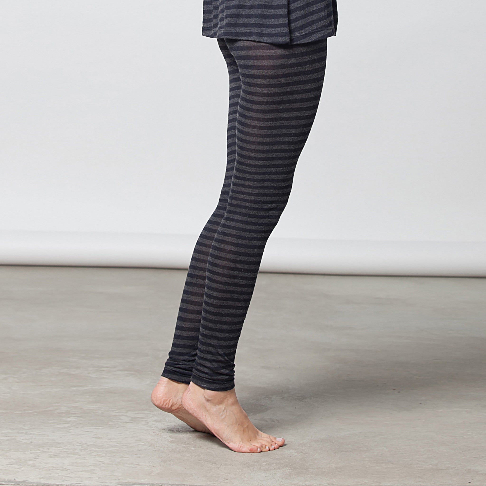 cashmere leggings with stripes