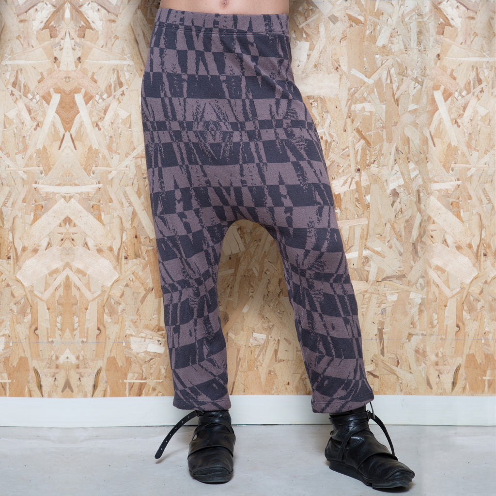 Cropped jacquard strips pants - DuendeFashion  - 1