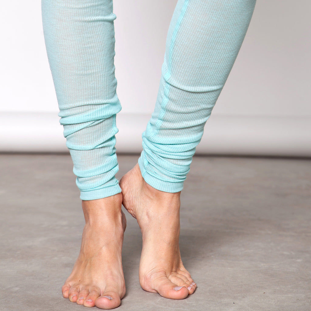 Lightweight cotton rib leggings - DuendeFashion  - 1