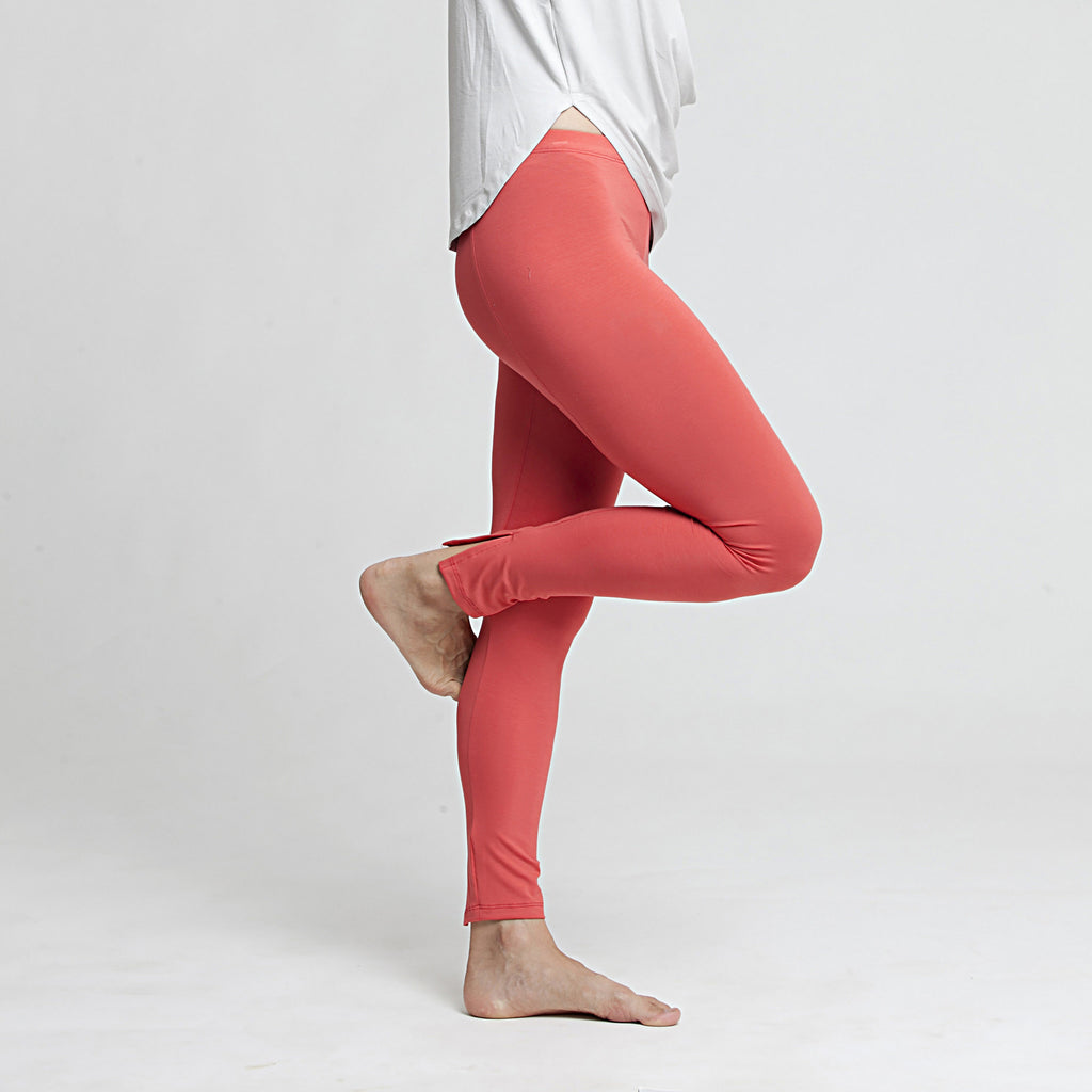 Boot cut jersey leggings - DuendeFashion  - 1