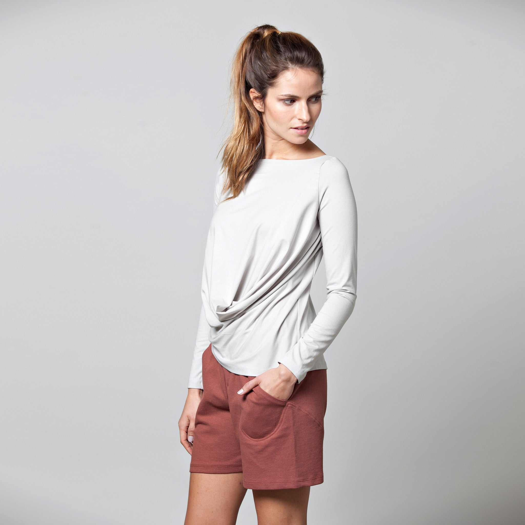 Loose fit shorts - DuendeFashion  - 3
