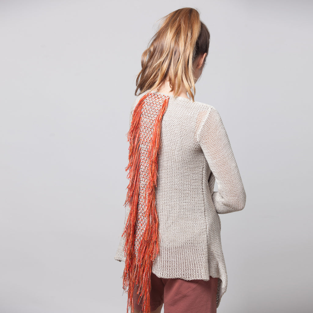 Sample sale- OOAK fringes cardigan - DuendeFashion  - 1