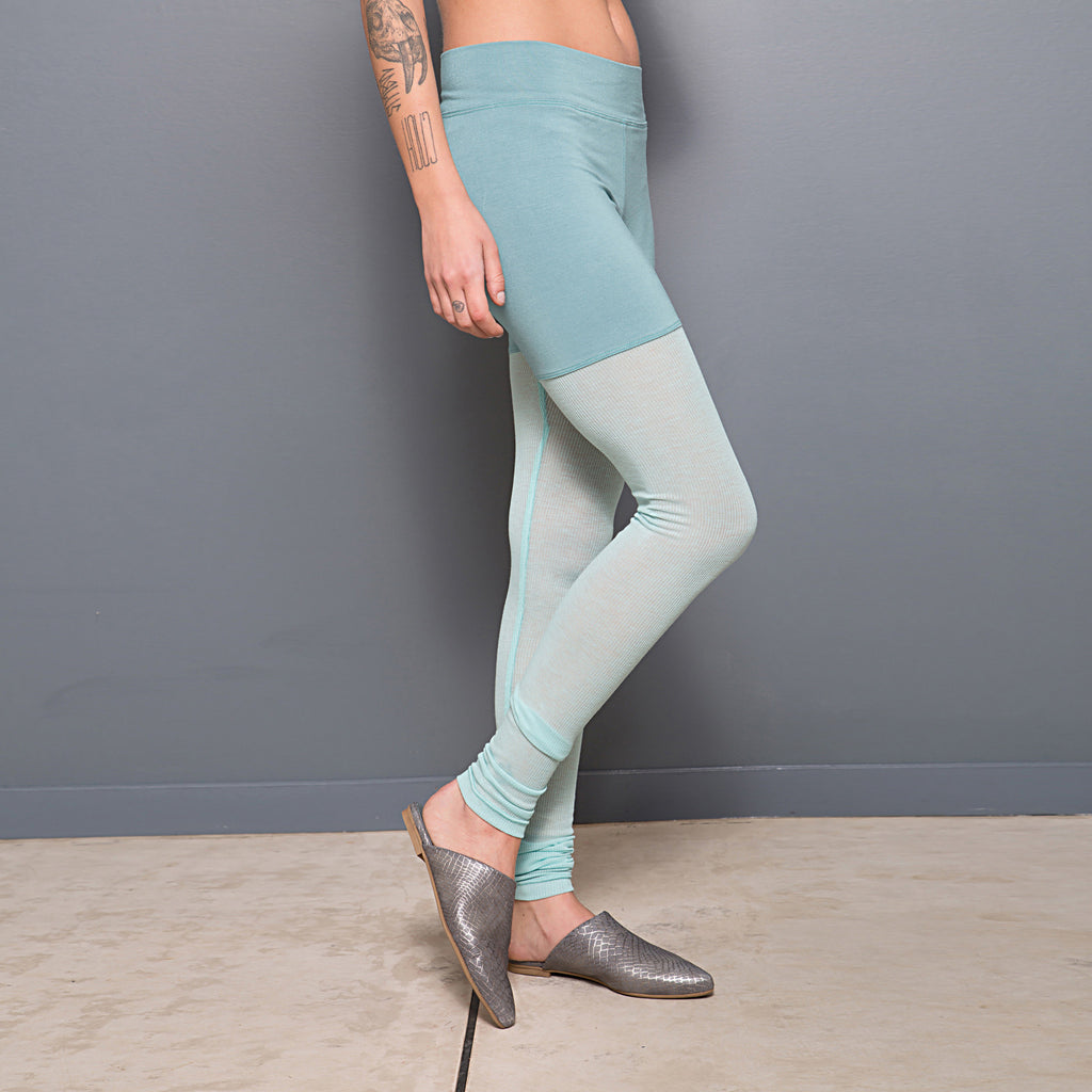 Japanese cotton rib and jersey leggings - DuendeFashion  - 1