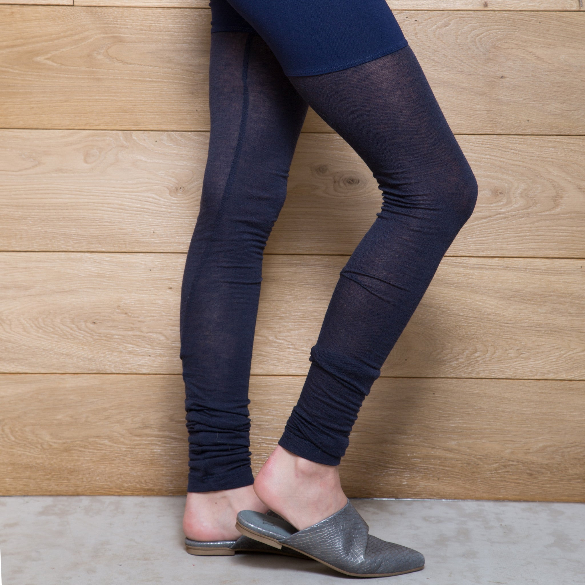Half jersey half cashmere winter leggings - DuendeFashion  - 3