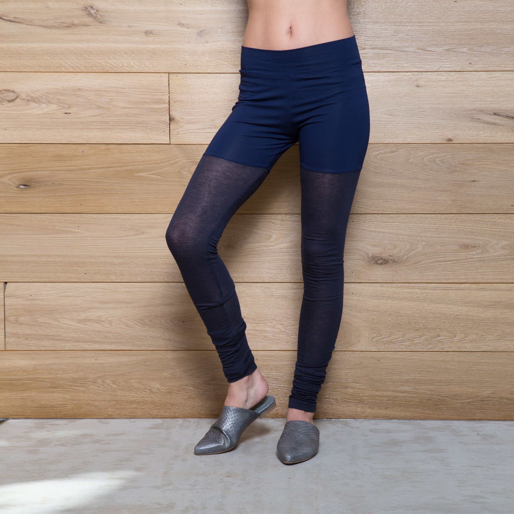 Half jersey half cashmere winter leggings - DuendeFashion  - 2