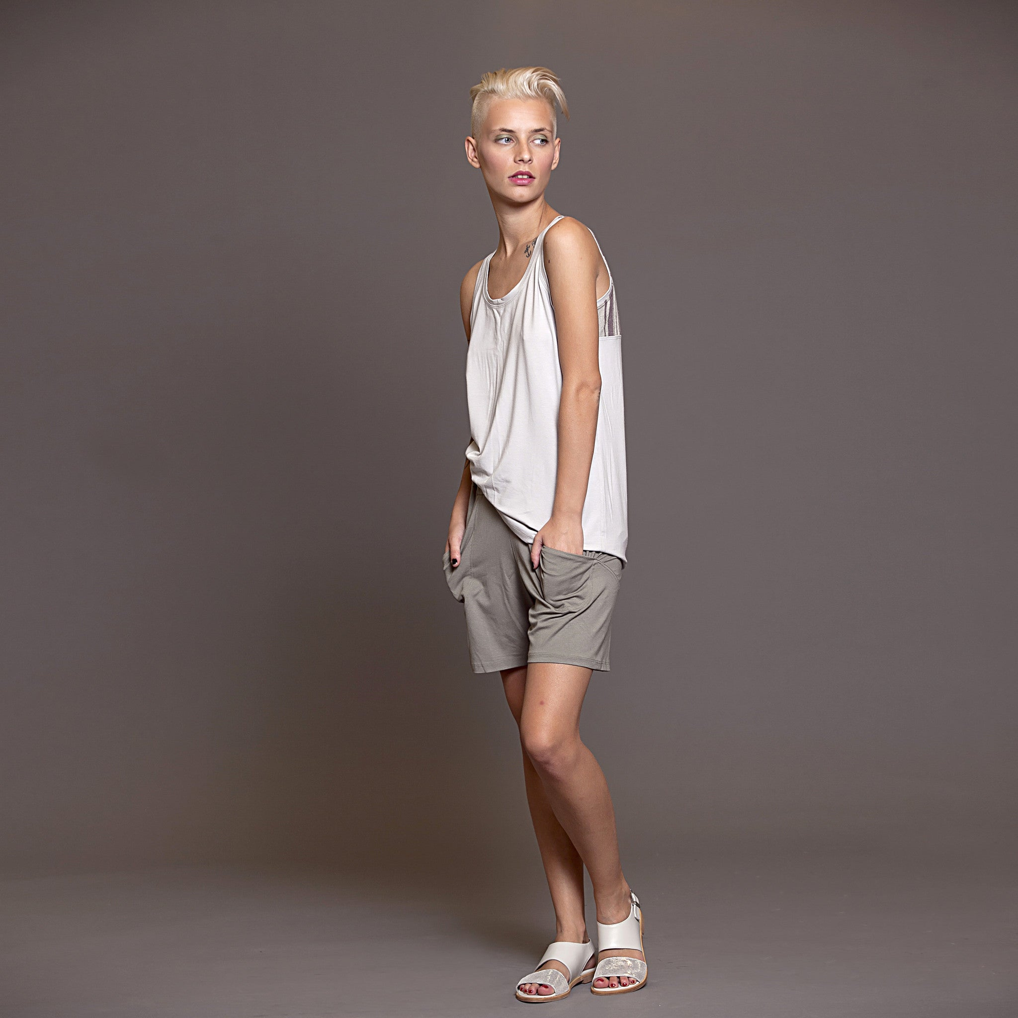 Jersey Loose fit shorts - DuendeFashion  - 3