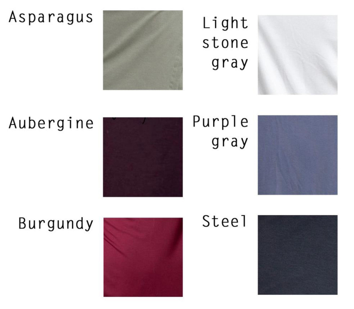 Sample sale- Long sleeve draped jersey top size S color purple grey - DuendeFashion  - 6