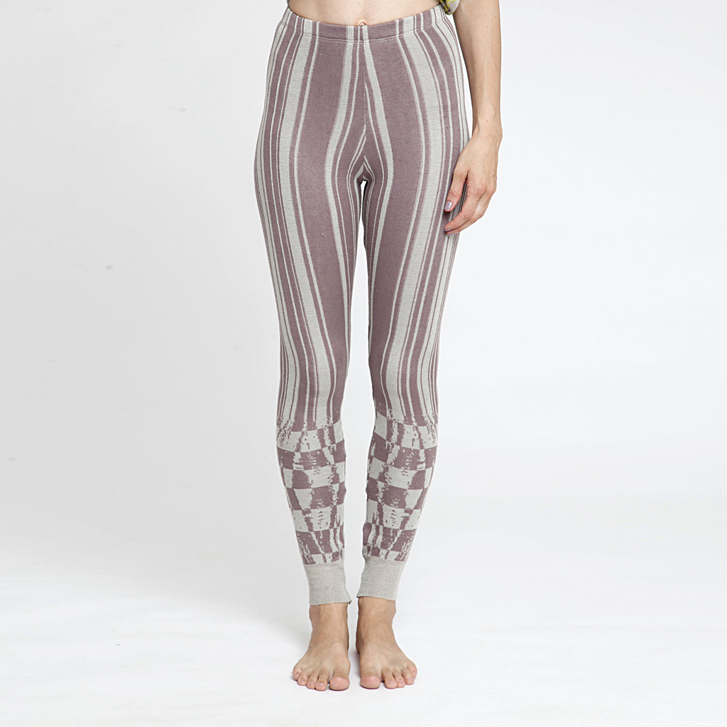Knitted jacquard Leggings - DuendeFashion  - 1