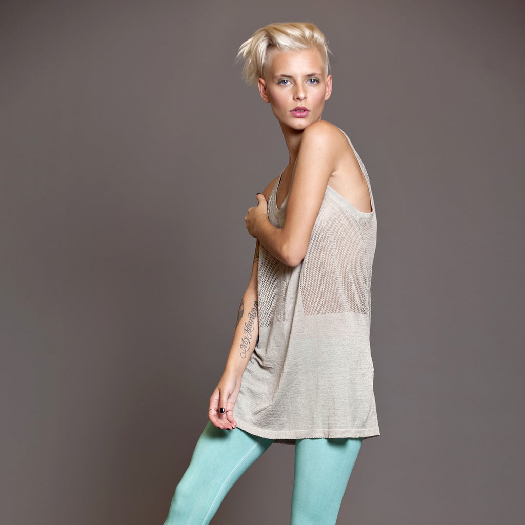 Tank top , Viscose linen knit