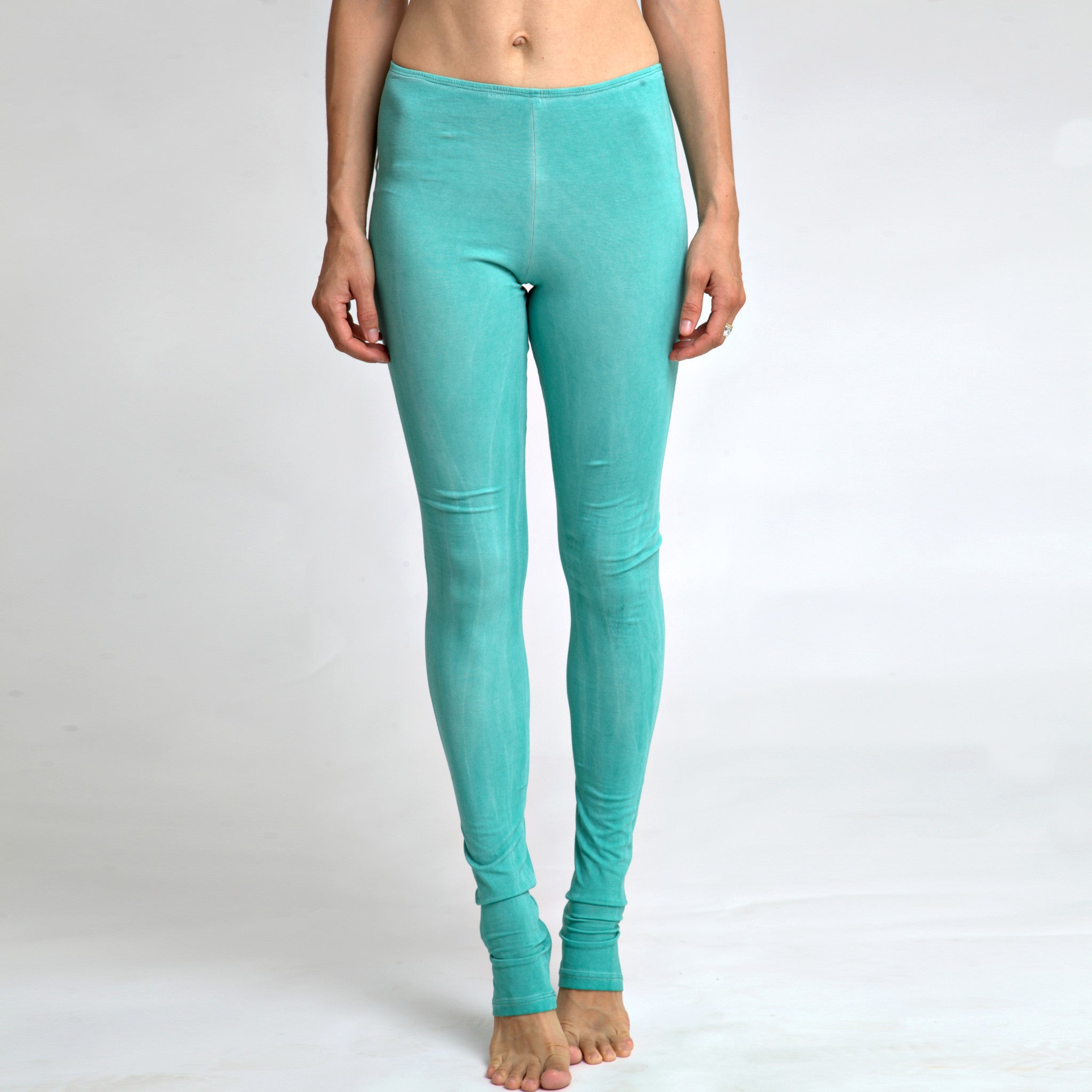 Leggings in stone wash mint - DuendeFashion  - 3