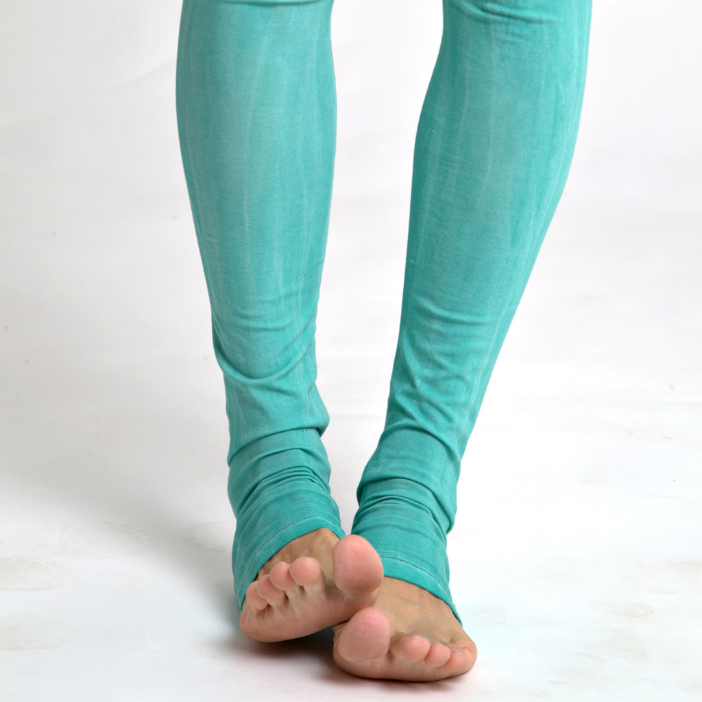 Leggings in stone wash mint - DuendeFashion  - 1
