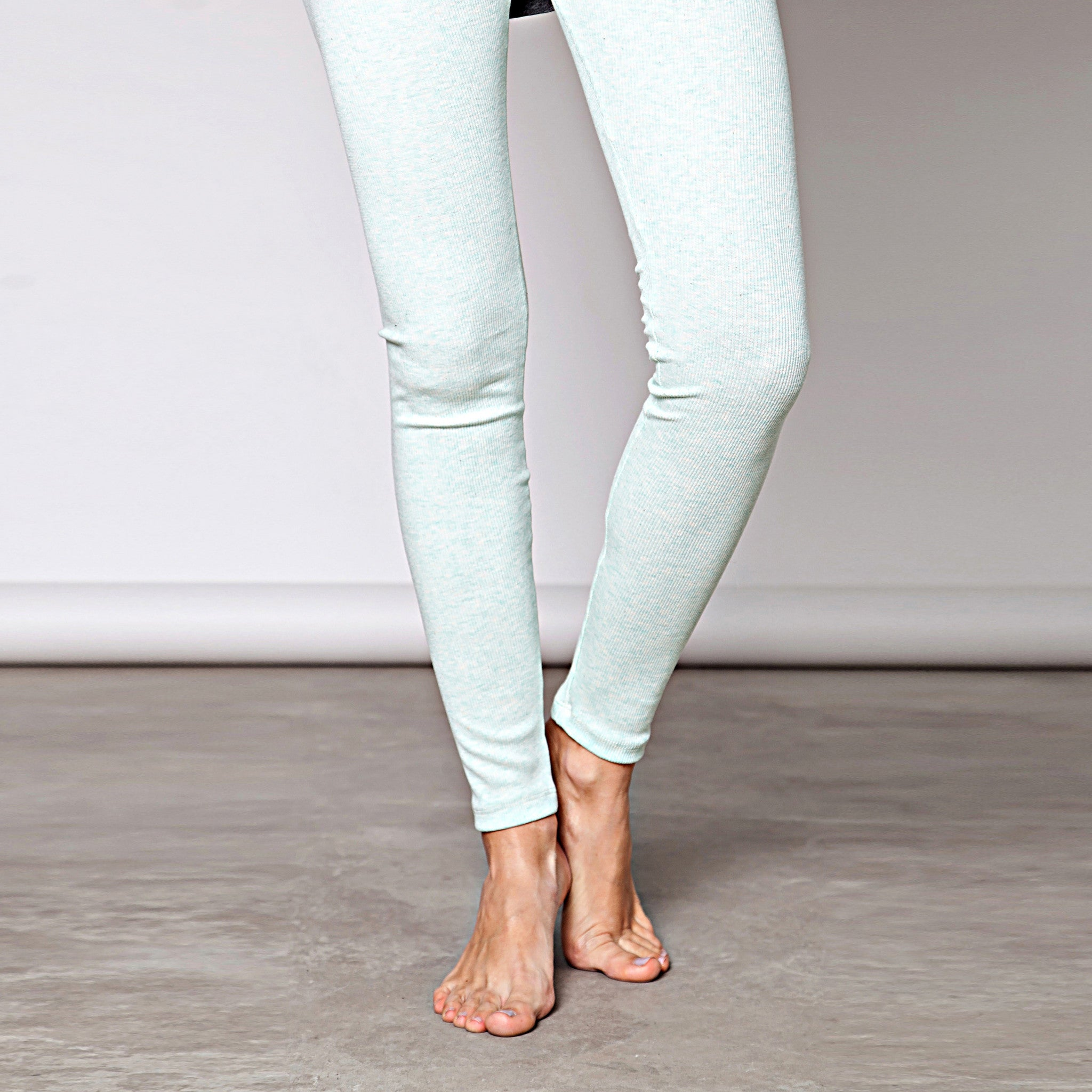 Cotton rib leggings - DuendeFashion  - 3