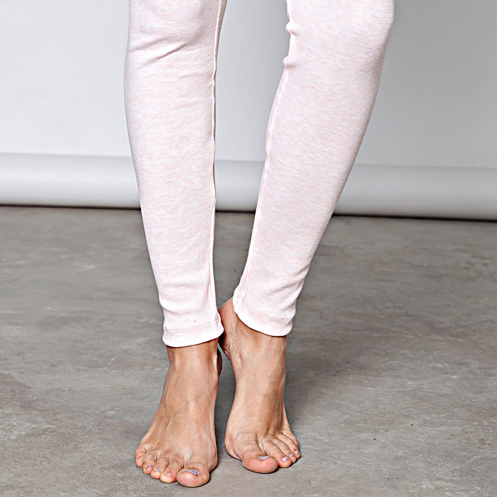 Cotton rib leggings - DuendeFashion  - 1