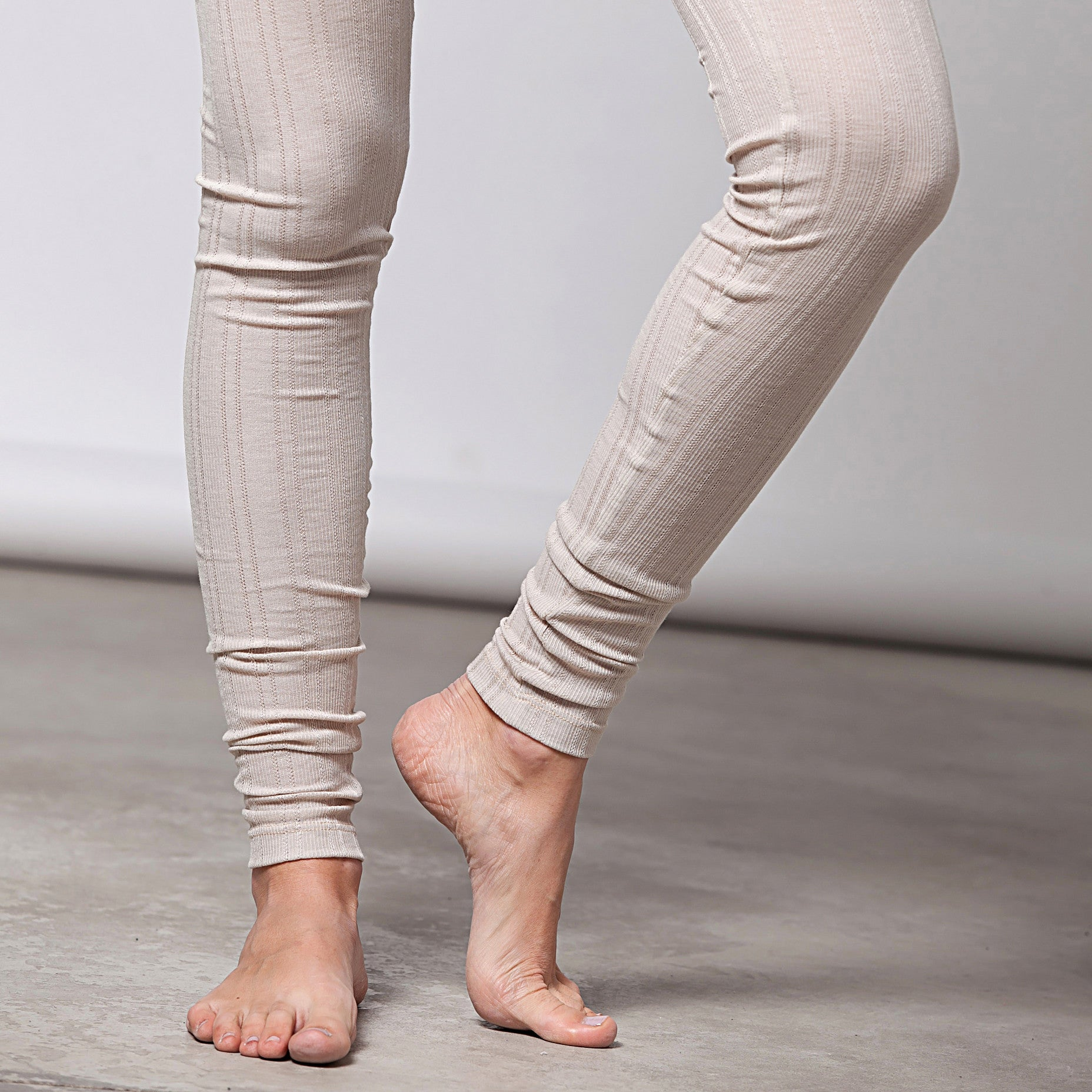 Cotton pointelle knit leggings - DuendeFashion  - 3