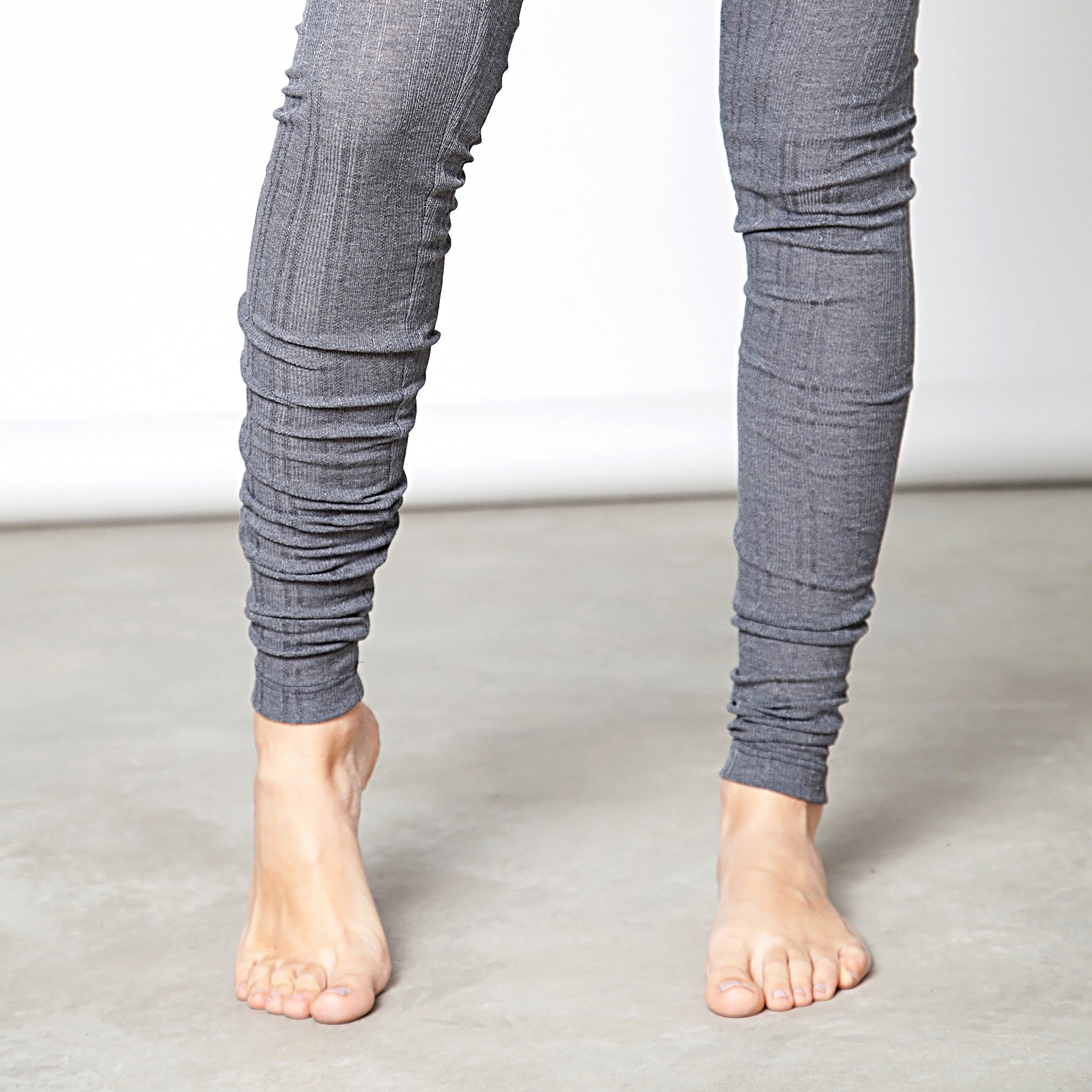 Cotton pointelle knit leggings - DuendeFashion  - 4