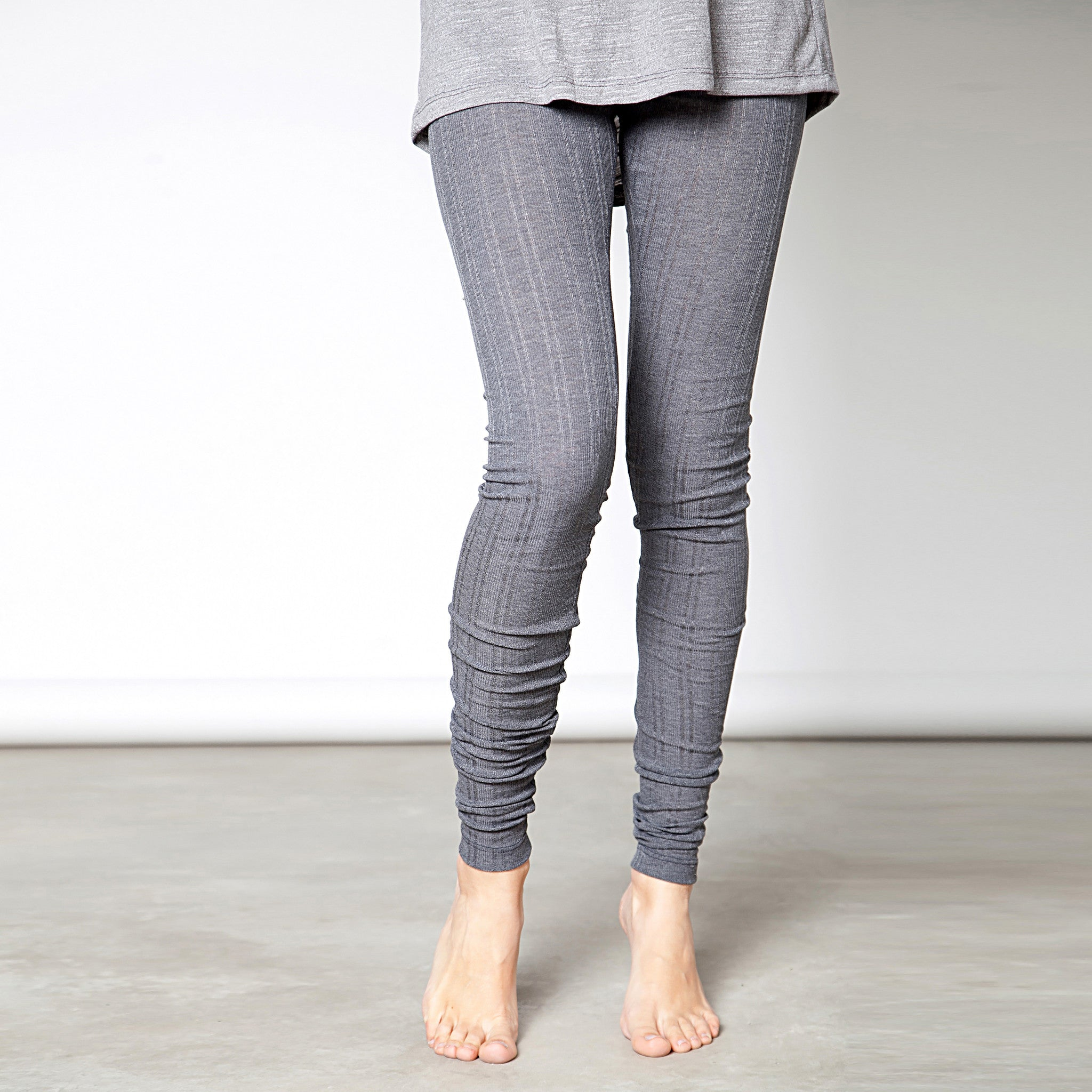Cotton pointelle knit leggings - DuendeFashion  - 5