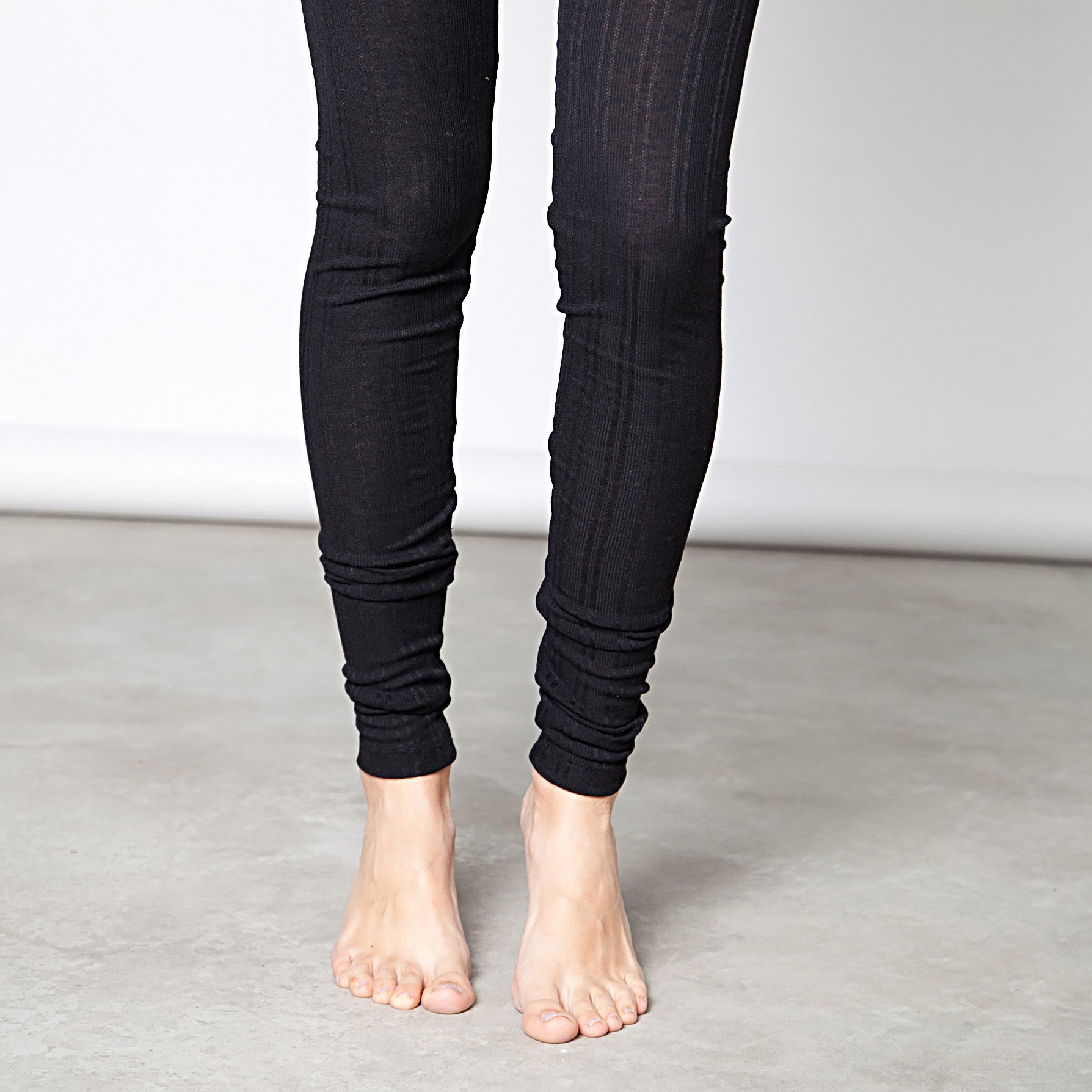 Cotton pointelle knit leggings - DuendeFashion  - 2