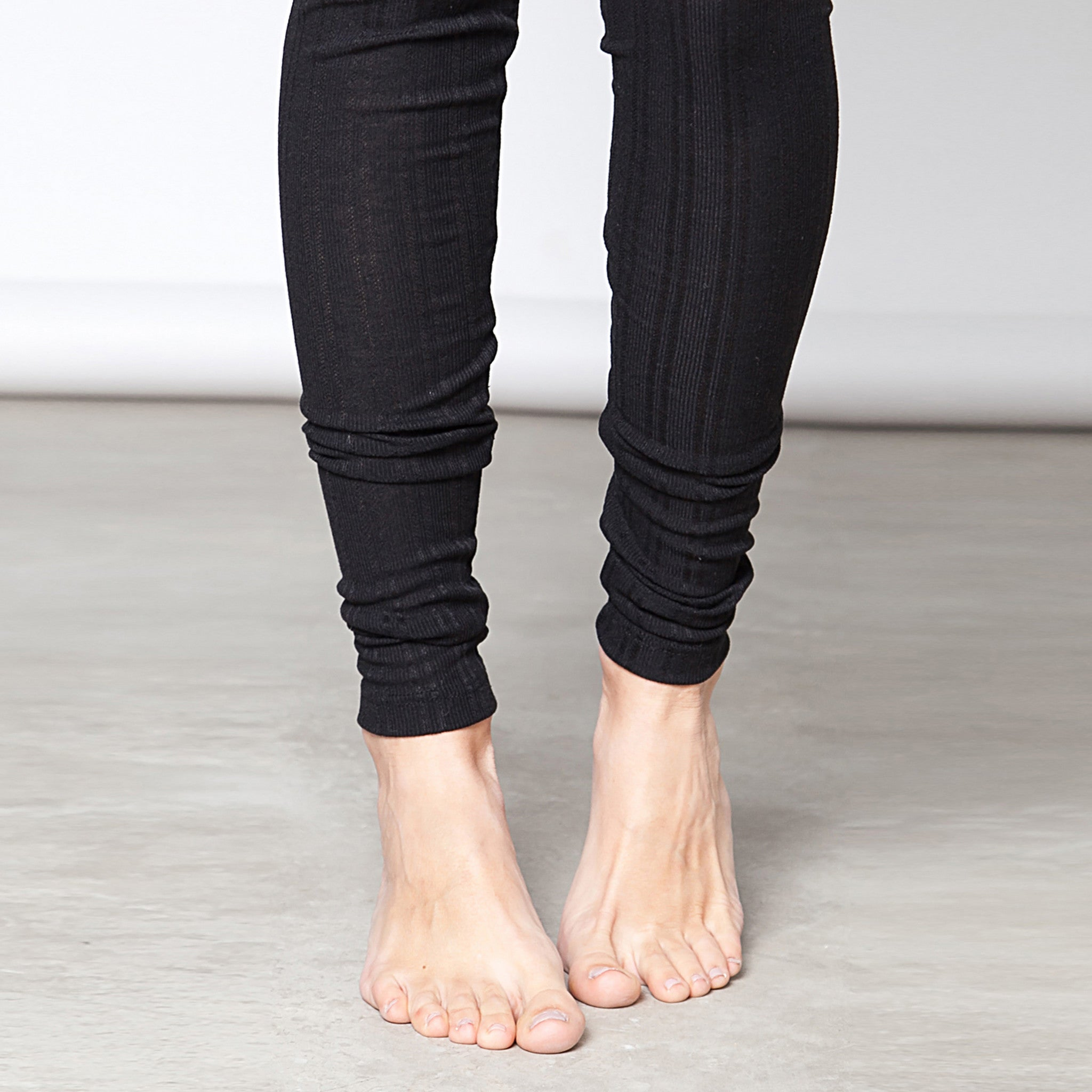 Cotton pointelle knit leggings - DuendeFashion  - 6
