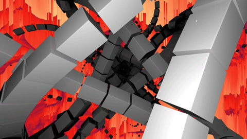 Abstract Tunnel With Background Visuals