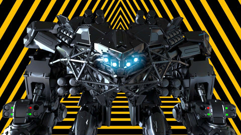 Mech Future and White Triangles VJ Loops
