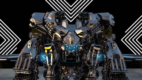 Mech Future and Techno Lines VJ Loops Example
