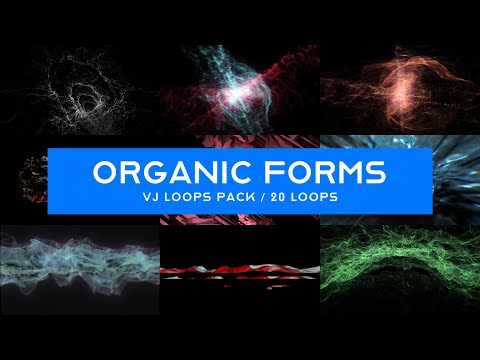 Organic Forms VJ Loops Pack