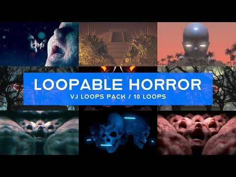 Loopable Horror VJ Loops Pack