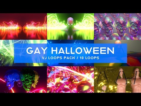 Gay Halloween VJ Loops Pack