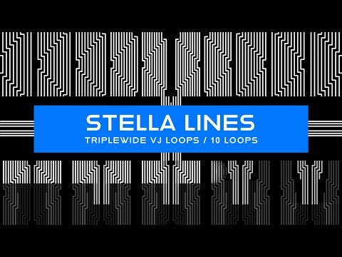 Widescreen Stella Lines VJ Loops Pack