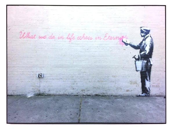 "STREET ART- BANKSY - ""68th Street / 38th Avenue, Queens, NYC"""