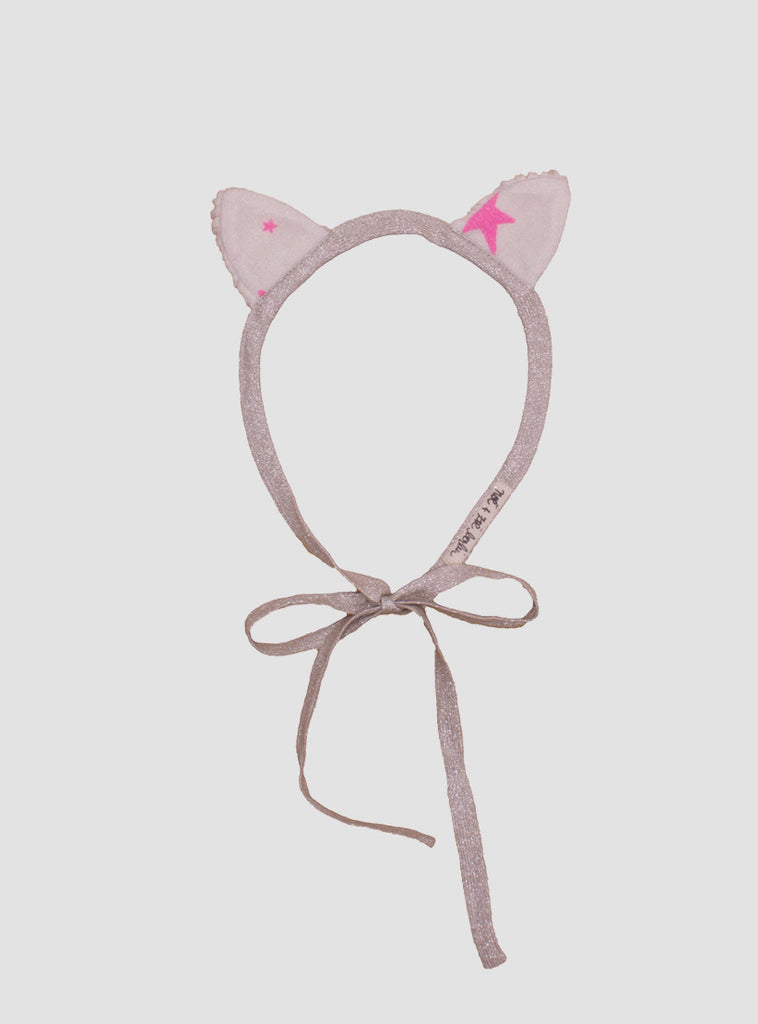Cat Headband  in Neon Pink
