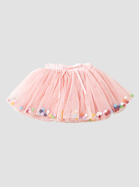Celebration Pink Pom Pom Skirt