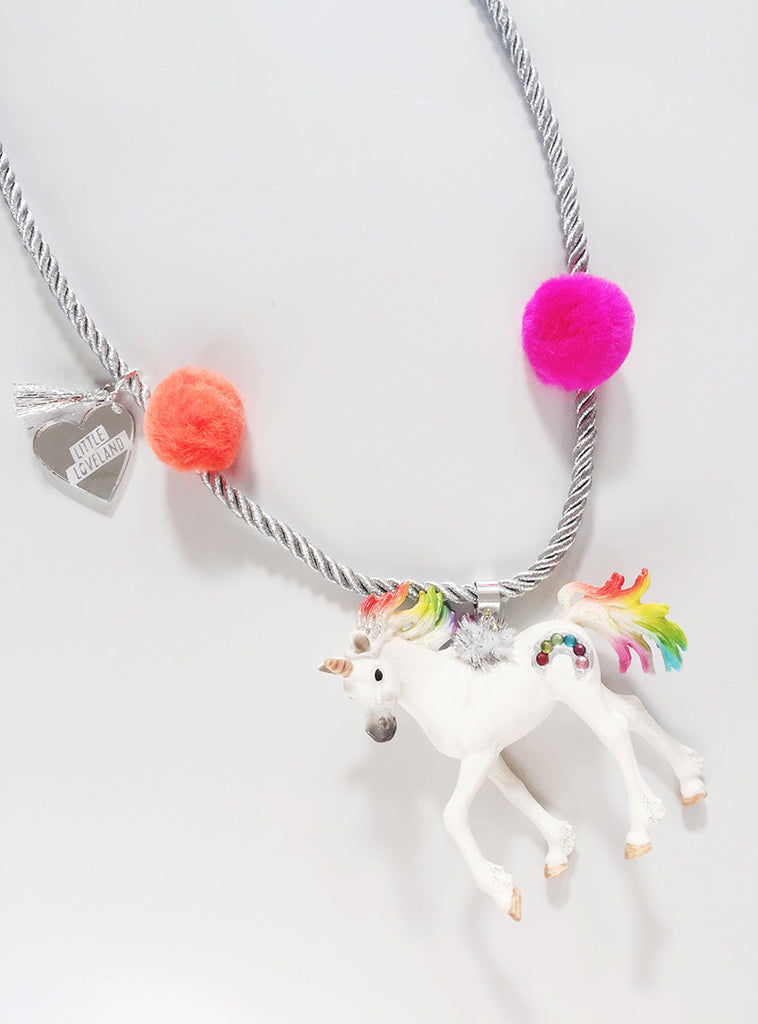 Enchanted Creatures Rainbow Unicorn Necklace
