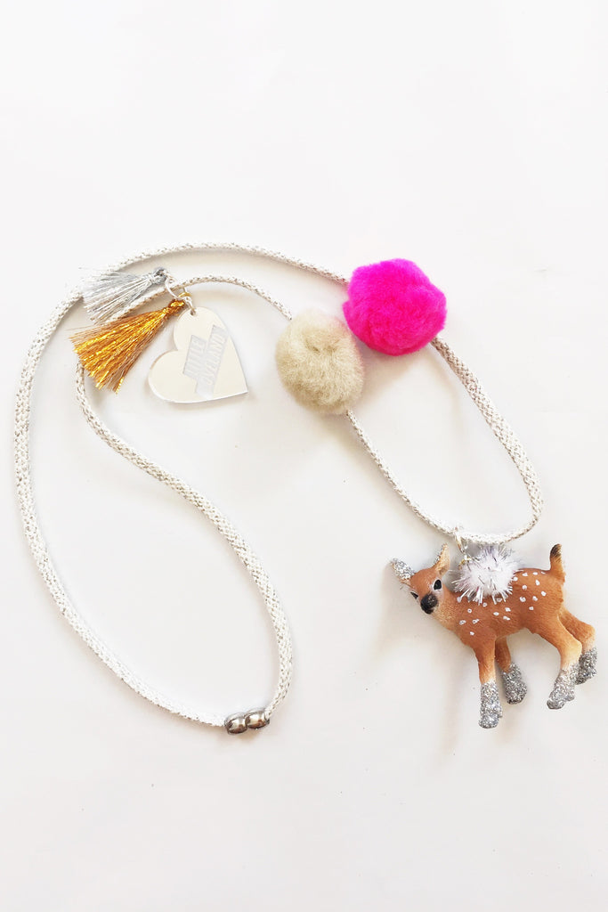 Bambi Glitter Animal Necklace