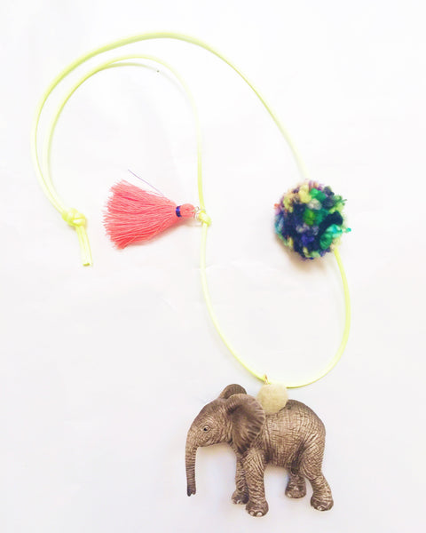 Elephant Wild Animal Necklace